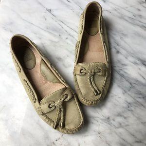 Frye Regan flats leather tan size 9